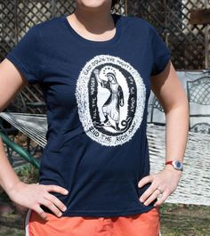 :: BLACK ONLY, navy blue SOLD OUT. New photos coming soon ::  These t-shirts feature a screen print based on a woodcut I did a while back. Fair Trade and made from organic cotton. They were made in Kolkata, India by Freeset a business that employs women who formerly worked in the sex
