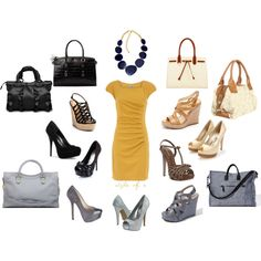 Yellow Dress Options, created by styleofe on Polyvore