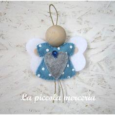 Angelo angioletto pannolenci da appendere Natale albero decorazione handmade