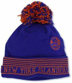 2d4b734b5 NHL New York Islanders Cuffless Knit Hat With Pom
