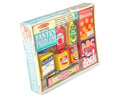 Melissa & Doug Wooden 9-Piece Pantry Products Set