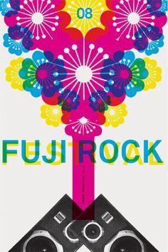 fuji rock festival poster - Google Search