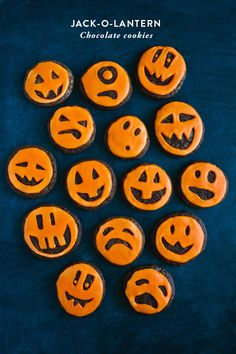 by food contributor Brittany Halloween week is here and these jack-o-lantern cookies will definitely bring some personality to your next Halloween party! I had so much fun coming up with faces to f...