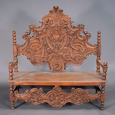 Renaissance Revival Bench Carved with Coat-of-Arms, Estimate: $800/1,200 #michaans http://www.michaans.com/highlights/2013/highlights_11032013.php