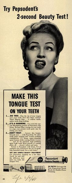 VINTAGE KEEP YOUR TEETH CLEAN ADVERTISING RETRO A2 POSTER PRINT