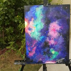 #galaxy by acrylic colours💜 #narmeen_ayad