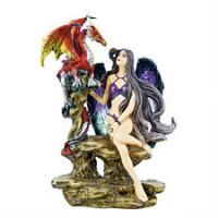 """""""Fire the Gothic Temptress"""" Statue"""