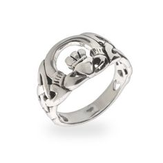 Claddagh Ring with Celtic Weave Band
