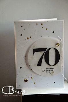 Karten zum … Stampin Up Demonstratorin Br… Diy Birthday For Mom, 70th Birthday Card, Handmade Birthday Cards, Birthday Messages, Frozen Birthday, Birthday Presents, Fun Wedding Invitations, Invitation Cards, Wedding Cards