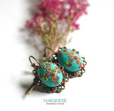 Theodore earrings in turquoise by Eva Thissen Gallery, via Flickr