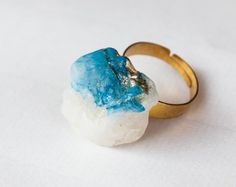 Shop for rings on Etsy, the place to express your creativity through the buying and selling of handmade and vintage goods. Druzy Ring, Gemstone Rings, Trending Outfits, Unique Jewelry, Handmade Gifts, Gemstones, Creative, Stuff To Buy, Etsy