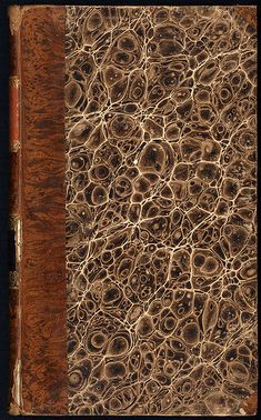 Marbled paper from a book printed in 1821 in Germany