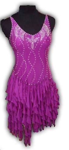 Ruffle Latin Dress