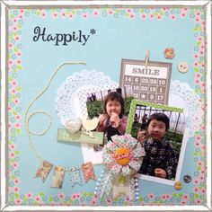 Happily* by:hiiragi #スクラップブッキング