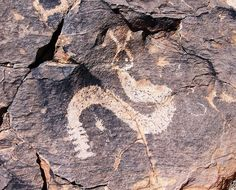 Petroglyph, Snake & Rabbit, Mimbres Region, New Mexico, USA by David, via Flickr