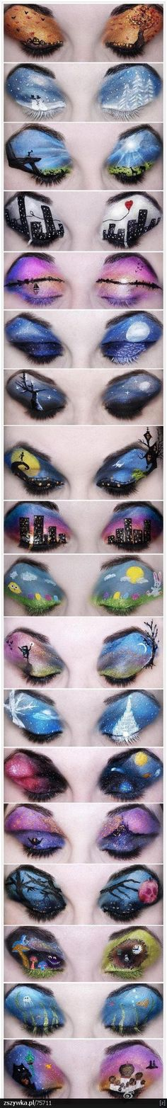 Man this would be kick ass eye make up to do every day! Just need the patients to do it! ♡♥★♥♡