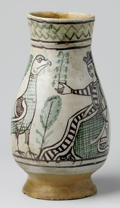 To refer to this object please use the following persistent URL:http://hdl.handle.net/10934/RM0001.COLLECT.242548  c.1400 Italie Orvieto rijksmuseum pichet majolique archaïque a02