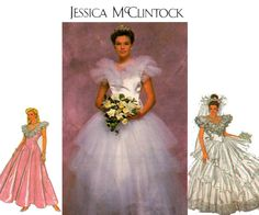 80s Puffy Tulle Wedding Dress Pattern By Allthepreciousthings