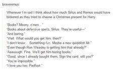sirius and remus i dont ship but this is cute