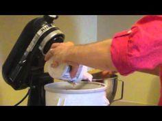 How to make frozen yogurt using KitchenAid ice cream attachment - YouTube