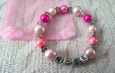 handmade QUALITY glass beads CUSTOMISED FRIENDSHIP BRACELET GIFT BDAY BAG FAVOUR