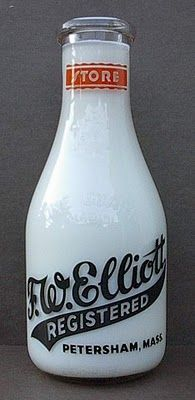 my childhood did include twice weekly deliveries  by a milkman & a metal milk box on the back porch. F.W. Elliot