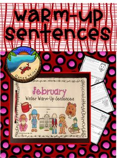 Writing Activities for FebruaryWriting Complete SentencesQuick warm-up writing First Grade Projects, First Grade Activities, Teaching Activities, Teaching Writing, Classroom Activities, Teaching Resources, Teaching Ideas, February Holidays, Valentines Day Activities