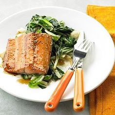 Pineapple-Glazed Salmon From Better Homes and Gardens, ideas and improvement projects for your home and garden plus recipes and entertaining ideas.