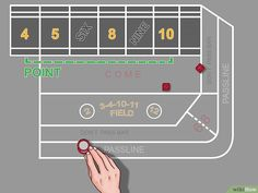 How to Play Craps. Craps is a game where many bettors get to stake their chips on a roll of the dice. The table layout makes the game seem a little confusing at first, but the rules are easy to pick up with experience. Good To Know, A Table, Play, Games, Gaming, Plays, Game, Toys