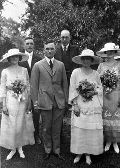 Harry S. and Bess Truman On June 28, 1919, 35 year old Harry S. Truman married 34 year old Bess Wallace, ending a nine year courtship. The bridesmaid on the left is Louise Wells and on the right is Helen Wallace. In the back row are the best man, Ted Marks, and Bess's brother Frank, who gave her away.