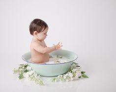 edmonton baby milk bath one year old photos