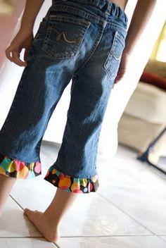 Ruffle Jeans Hem