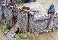 A very impressive scratch built castle!