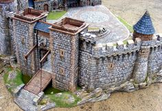 A very impressive scratch built castle!