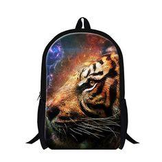 2017 tiger printing child school backpack cool animal back pack for teenager,mens favourite tasmanian tiger backpack for travle