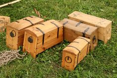 Wooden chests of vikings. Festival of experimental archaelogy. Kernave. Lithuania by Gatis /Latvia/, via Flickr