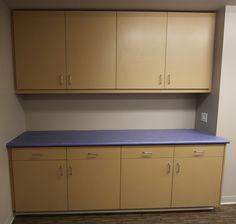 Laminate Cabinets and countertops in children's classroom. Brea, CA.