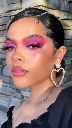 Pink Makeup, Girls Makeup, Glam Makeup, Colorful Makeup, Beauty Makeup, Hair Makeup, Makeup 101, Makeup Geek, Makeup Inspo