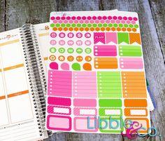 Cutie Patootie Weekly Planner Kit!!!  Set of 110 Perfect for the Erin Condren Planner!!!
