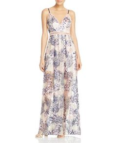 AQUA x Maddie & Tae Embroidered Beaded Maxi Dress - 100% Exclusive | Bloomingdale's