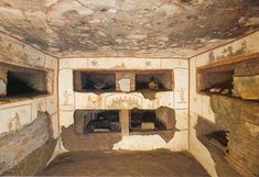 Catacomb with burial niches