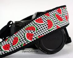 Watermelon dSLR Camera Strap, SLR, Plaid, Red