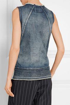 3755b47e9992 Jean bleu S enfile simplement 100% coton   finitions   100 % cuir (
