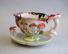 C Steele Collection Porcelain China Info: 5109104599 Porcelain Ceramics, Ceramic Pottery, Porcelain Dinnerware, Porcelain Tiles, Painted Porcelain, Tea Cup Saucer, Tea Cups, Cup Of Tea, Mushroom Tea