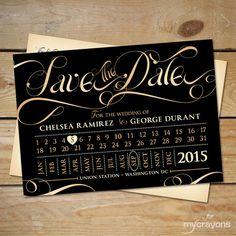 Train Ticket Save the Date Wedding Postcard by MyCrayonsDesign