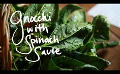 Cooking by Heart: Domi et Cyril Sarthe's Gnocchi w Spinach Sauce. In France! We spent a month with Domi and Cyril, working on their farm. He...