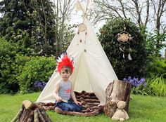 Imaginary play the teepee way from Moozle as seen on Babyology.com @babyology