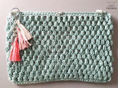 Neceser en punto garbanzo a crochet | Santa Pazienzia