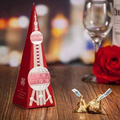 韓國設計師設計新款東方之珠喜糖盒 東方之珠喜糖盒:  尺寸16cm 底部5x5cm(可裝3-6顆糖果)