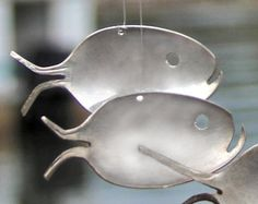 Fish made from spoons Original spoon fish wind chime by NevaStarr